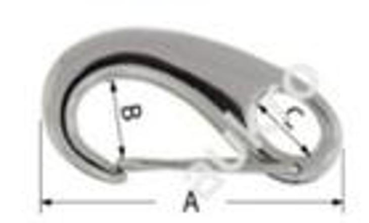 Oválná karabiba 70 mm