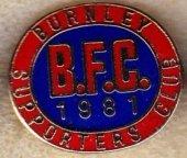 Anglická 1. soutěž: Burnley SC, smaltovaný