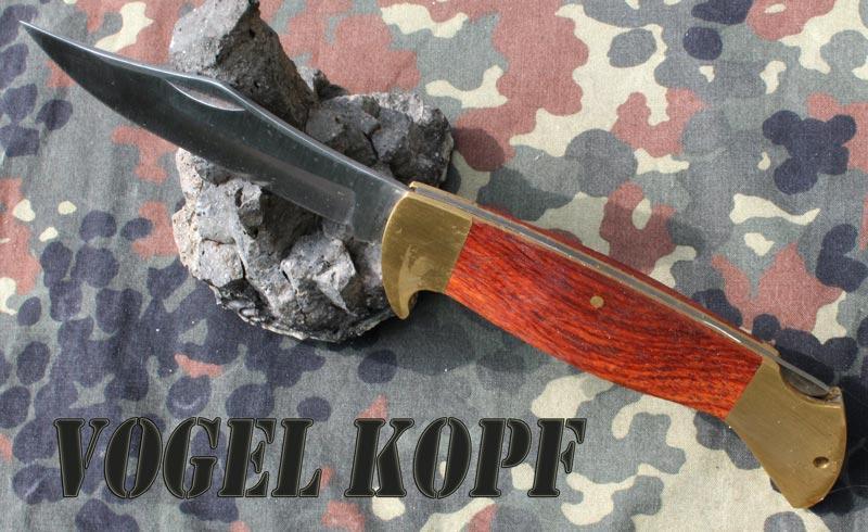 3297 Zavírací nůž s dřevěnou střenkou Vogel Kopf