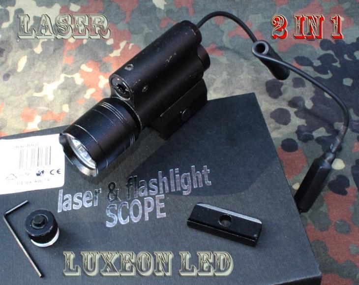 3025 Posviť a zaměř - laser a LuxeonLED v jednom.