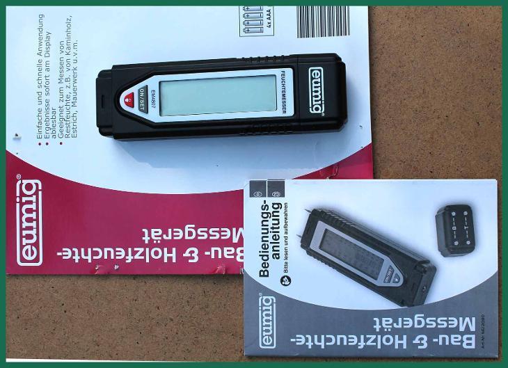 4307 Vlhkoměr pro měření vlhkosti dřeva Eumig