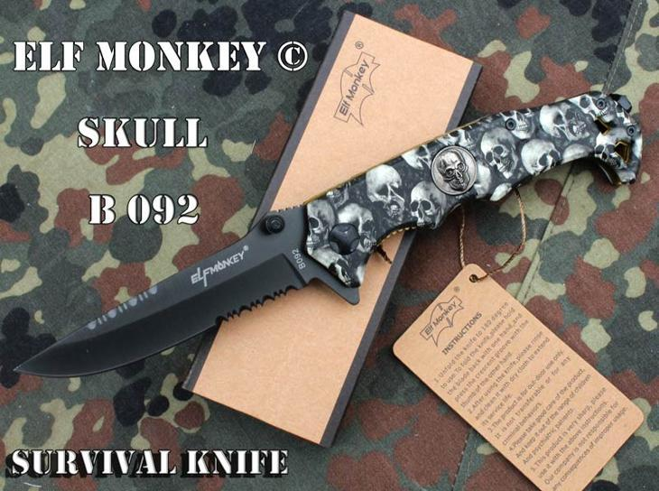 3151 Rychlootevírací nůž ELF Monkey  Skull 22cm.