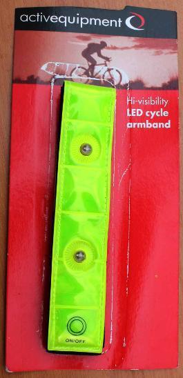 3555 Reflexní + LED blikací pás na suchý zip
