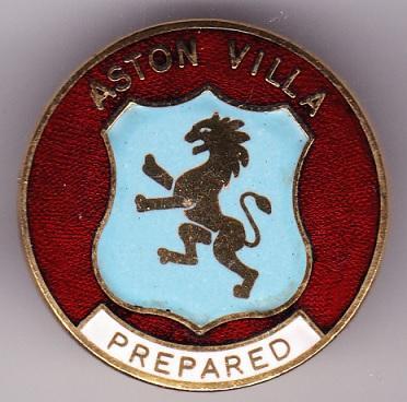 Anglická 1. soutěž: Aston Villa FC, smaltovaný z 60. let, 26 mm