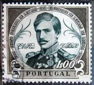 PORTUGALSKO: MiNr.903 King Pedro V 1E 1961