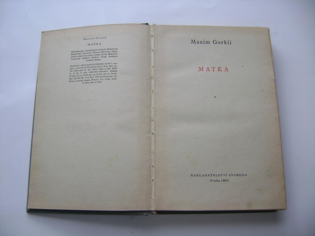 Maxim Gorkij - Matka (1952) (A)