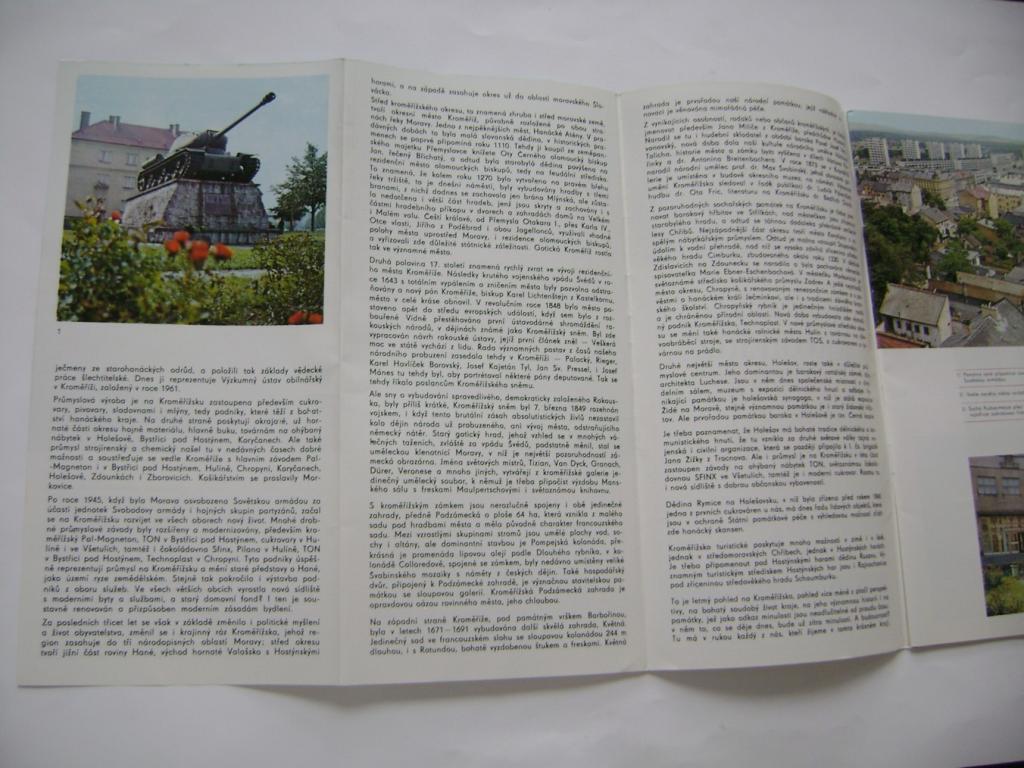Kroměříž - okres, průvodce, mapa, fotografie (1977) (A)