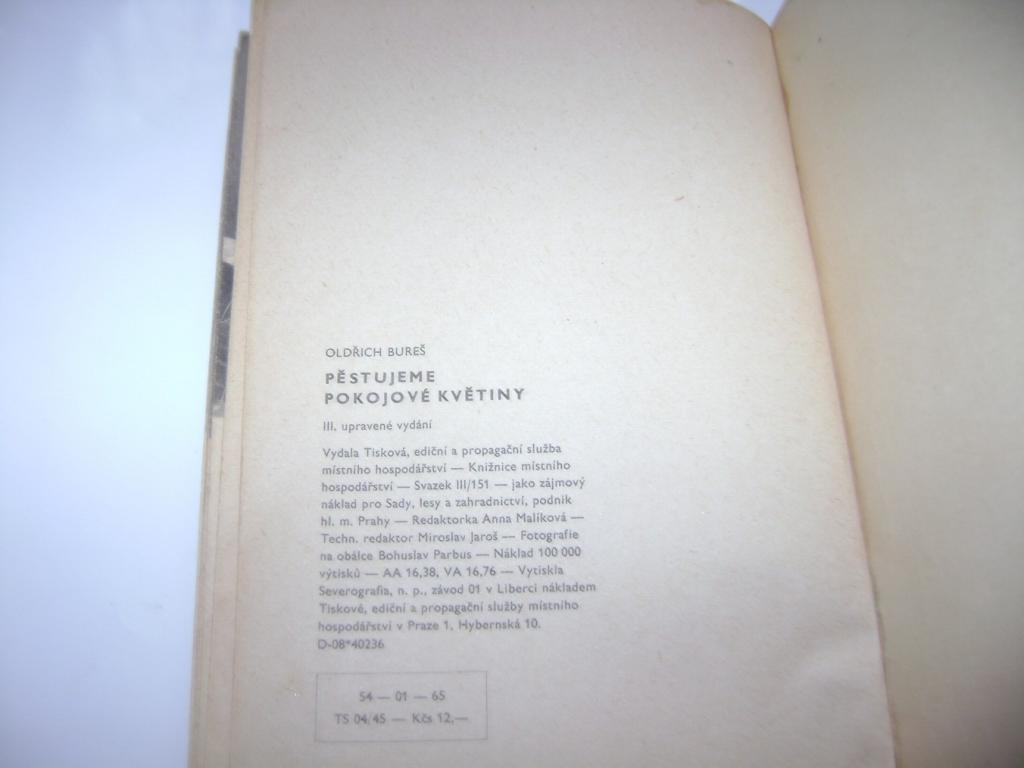 Oldřich Bureš: Pěstujeme pokojové rostliny (1965) (A)